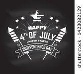 vintage 4th of july design in... | Shutterstock .eps vector #1423082129