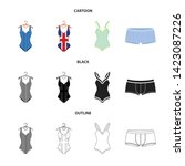 isolated object of bikini and...   Shutterstock .eps vector #1423087226