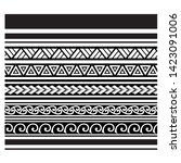 tribal pattern tattoo ... | Shutterstock .eps vector #1423091006