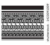 tribal pattern tattoo ... | Shutterstock .eps vector #1423091009