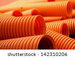 Orange Plastic Pipe Background