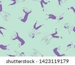 seamless pattern design with... | Shutterstock .eps vector #1423119179