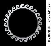 circular greek frame with...   Shutterstock .eps vector #1423124423