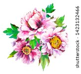 composition with pansies ...   Shutterstock . vector #1423132466