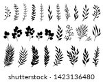 set of tree branches ... | Shutterstock .eps vector #1423136480