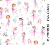 Seamless Pattern With Ballet...