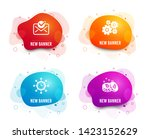 liquid badges. set of cogwheel  ... | Shutterstock .eps vector #1423152629
