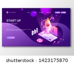 business start up responsive... | Shutterstock .eps vector #1423175870