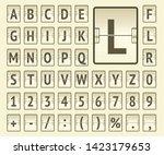 beige airport terminal... | Shutterstock .eps vector #1423179653