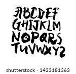 dry brush alphabet font set... | Shutterstock .eps vector #1423181363