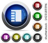 vertical tabbed layout active... | Shutterstock .eps vector #1423185596