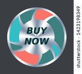 buy now web button. vector... | Shutterstock .eps vector #1423198349
