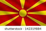 flag of macedonia | Shutterstock . vector #142319884