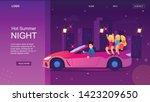 hot summer night. rich cartoon... | Shutterstock .eps vector #1423209650