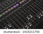 closeup of sound mixer in...   Shutterstock . vector #1423211750