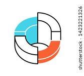 three dimensional diagram color ... | Shutterstock .eps vector #1423221326