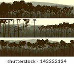 horizontal abstract banners of... | Shutterstock .eps vector #142322134