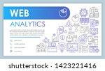 web analytics banner  business...