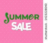 sale   lettering banner design. ... | Shutterstock .eps vector #1423228040