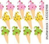 ice cream cones seamless...   Shutterstock .eps vector #142323988