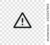 warning icon from miscellaneous ... | Shutterstock .eps vector #1423247843