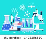 research laboratory. scientist...
