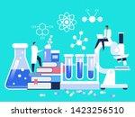 research laboratory. scientist...