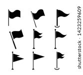 flag vector icon set isolated... | Shutterstock .eps vector #1423259609