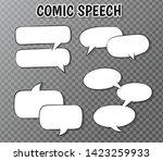comic speech bubbles collection ...   Shutterstock .eps vector #1423259933