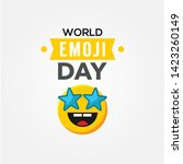 world emoji day vector design... | Shutterstock .eps vector #1423260149