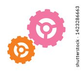 settings cogs icon. flat... | Shutterstock .eps vector #1423286663