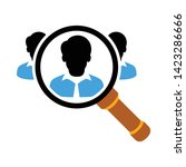 people search icon. flat... | Shutterstock .eps vector #1423286666