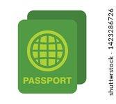 passport icon. flat... | Shutterstock .eps vector #1423286726
