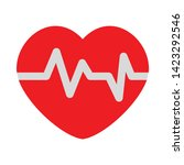 heart rate icon. flat... | Shutterstock .eps vector #1423292546