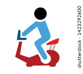 fitness bike icon. flat...   Shutterstock .eps vector #1423292600