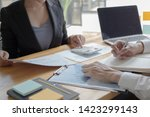 managers and accountants have... | Shutterstock . vector #1423299143