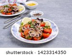 salad with octopus and fresh... | Shutterstock . vector #1423314350
