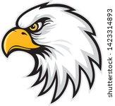 mascot head of an eagle  vector ... | Shutterstock .eps vector #1423314893