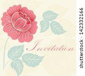vector flowers. invitation or... | Shutterstock .eps vector #142332166