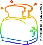 rainbow gradient line drawing... | Shutterstock .eps vector #1423323896