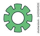 cogwheel linear icon. cogwheel... | Shutterstock .eps vector #1423324520
