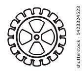 cogwheel linear icon. cogwheel... | Shutterstock .eps vector #1423324523