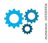 cogwheel linear icon. cogwheel... | Shutterstock .eps vector #1423324526