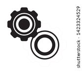 cogwheel linear icon. cogwheel... | Shutterstock .eps vector #1423324529