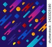 liquid color background design. ... | Shutterstock .eps vector #1423325180