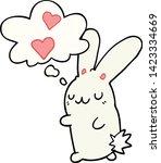 cartoon rabbit in love with...   Shutterstock .eps vector #1423334669