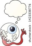 cartoon injured eyeball with...   Shutterstock .eps vector #1423338776