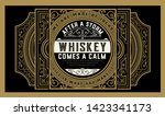 old whiskey label woth vintage... | Shutterstock .eps vector #1423341173