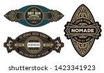 pack of 3 vintage logos | Shutterstock .eps vector #1423341923