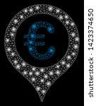 bright mesh euro map marker... | Shutterstock .eps vector #1423374650